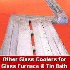 Furnace and tin bath coolers