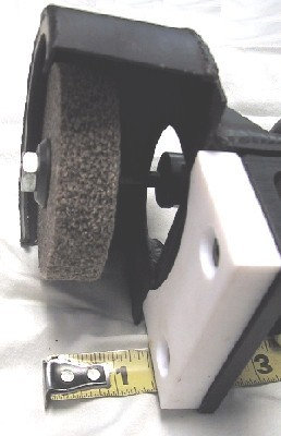 Hand Held Edge Deletion Tool with Wheel Extended for Deeper Deletion